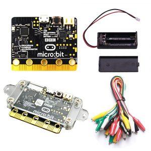 BBC Micro: Kit de démarrage de bits avec boîtier en acrylique Micro + boîtier de batterie Micro bits pinces crocodiles utilisées pour enseigner le bricolage aux débutants