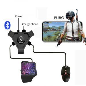 PUBG contrôleur de manette Mobile jeu clavier souris convertisseur pour Android ios téléphone IPAD Bluetooth 4.1 adaptateur cadeau gratuit