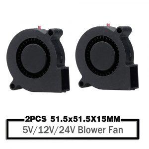 2 pièces 5015 50mm DC 24V 12V 5V boule/manchon sans brosse ventilateur de Turbine de refroidissement 50mm x 15mm ventilateur refroidisseur ventilateur pour imprimante 3D