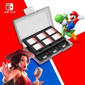 Accessoires de commutateur Nintend 24 en 1 jeu carte mémoire Micro SD support de boîtier pour Nintendo Switch boîte de protection de stockage