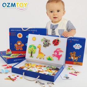 Forêt ferme 12 zodiaque Animal Puzzle magnétique bricolage développement éducatif pour enfants Joypin menottes