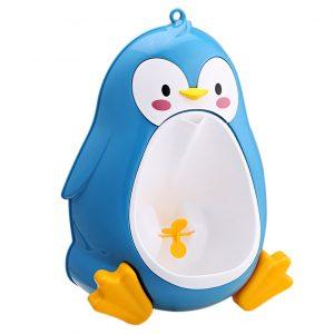 Mignon enfants urinoir pour 8M à 6Y garçons bébé pot pingouin enfants toilette formation urinoir-garçon support crochet pipi formateurs Pots Penico