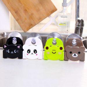 Succion disque éponge chiffon support de rangement salle de bain fournitures divers supports accessoires de cuisine évier supports de rangement mural