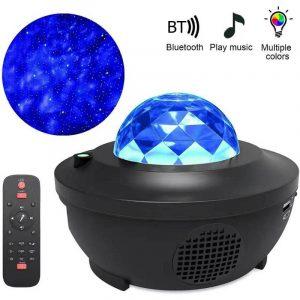 Coloré ciel étoilé projecteur Blueteeth USB commande vocale lecteur de musique LED veilleuse USB charge lampe de Projection enfants cadeau