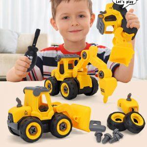 Puzzle pour enfants bricolage démontage ingénierie voiture combinaison ensemble assemblage pelle Bulldozer forage voiture et pression voiture