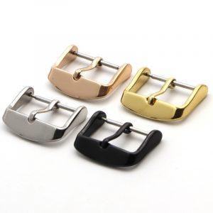 Montres accessoires montre argent fermoir boucle noir or acier inoxydable Bracelet montre réparation outil 16mm 18mm 20mm 22mm