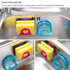1pc salle de bain étagère serviette porte-savon compartiments à vaisselle multi-usages cuisine mur nettoyage évier éponge support de rangement support Robe crochets ventouse
