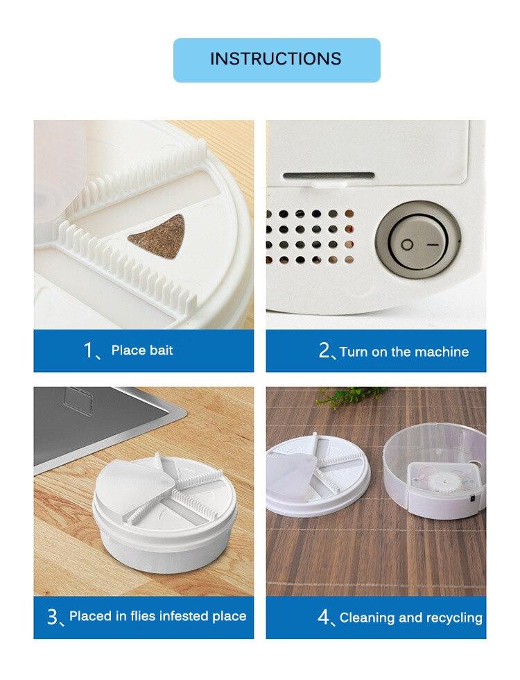 Piège à mouche électrique tueur mouche-mouche ravageur rejet attrape-mouche attraper USB puissance physique Flycatchers approvisionnement pour la cuisine