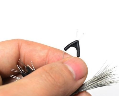 50 pièces/ensemble Double crochets contacteur dispositif pêche sous ligne diviseurs bifurcation huit caractères type espace haricot outil pivotant