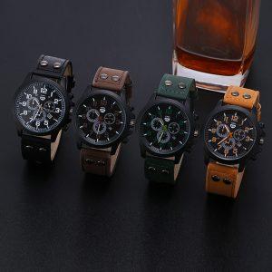 2020 Vintage classique montre hommes montres en acier inoxydable étanche Date bracelet en cuir Sport Quartz armée Relogio masculino reloj