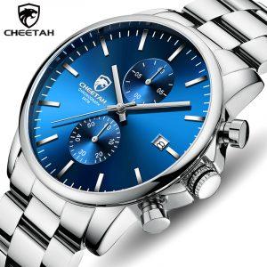Hommes montre guépard haut marque de luxe affaires montre-bracelet mode décontracté acier inoxydable sport étanche horloge Relogio Masculino