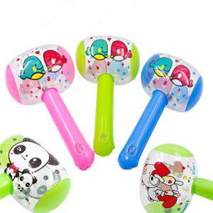 2 pièces nouveau chaud mignon dessin animé gonflable marteau Air marteau avec cloche enfants enfants exploser fabricant de bruit jouets couleur aléatoire