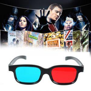 Nouveau rouge bleu 3D lunettes noir cadre pour dimensionnel anaglyphe TV film DVD jeu vidéo lunettes 3d lunettes pour projecteur Dlp JSX