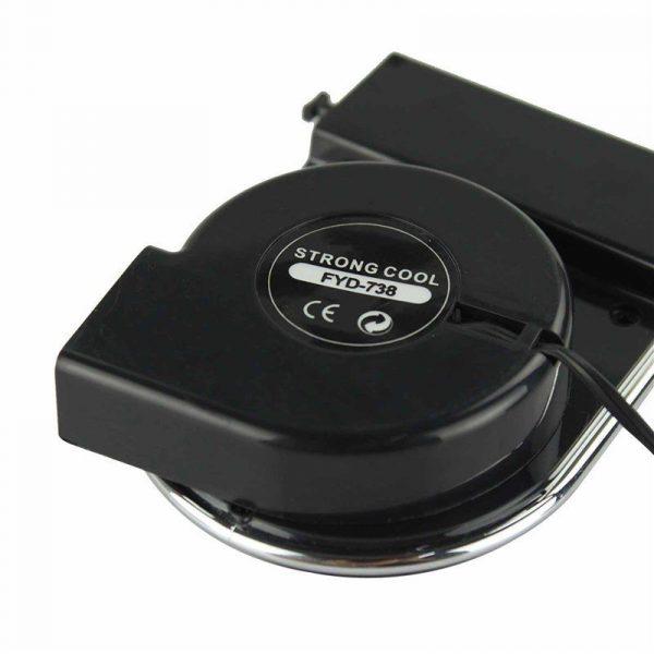 Refroidisseur sous vide ordinateur portable ventilateur de refroidissement Powstro Air frais extrait USB forte Turbine Dissipation thermique boîte 180 degrés rotatif ventilateur d'aspiration