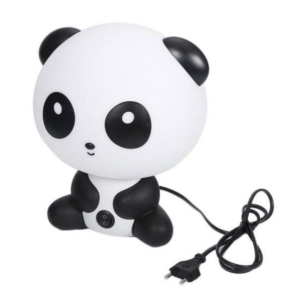 Mignon Panda lampe de Table bébé enfant chambre lampe de chevet dessin animé Animal créatif lumière chaude ménage économie d'énergie