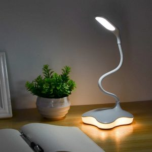 LED lampe de bureau Dimmable led lampe de Table étude lampe de lecture pour chambre veilleuse livre lumière LED USB capteur de charge lampe de bureau