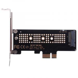 1pc NVMe PCIe M.2 NGFF SSD vers PCIe X1 carte adaptateur PCIe X1 vers M.2 carte avec support