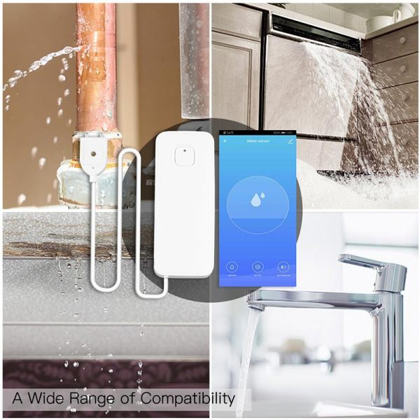 Tuya capteur intelligent WiFi | Détecteur de fuite d'eau, alerte de débordement d'inondation, système d'alarme de sécurité, application Smart Life, télécommande