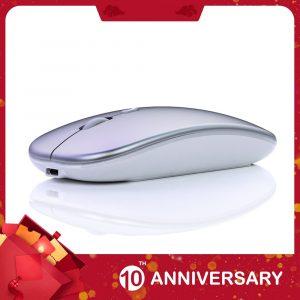 KIITO M2 7 couleurs rétro-éclairé Mosue silencieux muet Rechargeable sans fil souris ordinateur accessoires pour jeux de bureau à domicile