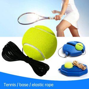 Outil d'entraînement de Tennis robuste plinthe dispositif de Sparring exercice balle de Tennis Sport auto-étude balle de rebond avec entraîneur de Tennis