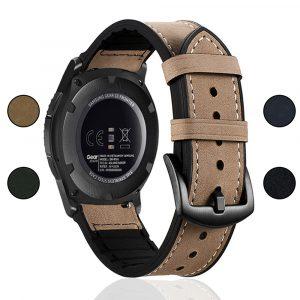 Bracelets de montre durables pour Samsung Gear S3 bande frontière 46mm Sport Silicone 22mm bandes de montre Bracelet galaxie montre 46mm/GT2/2e