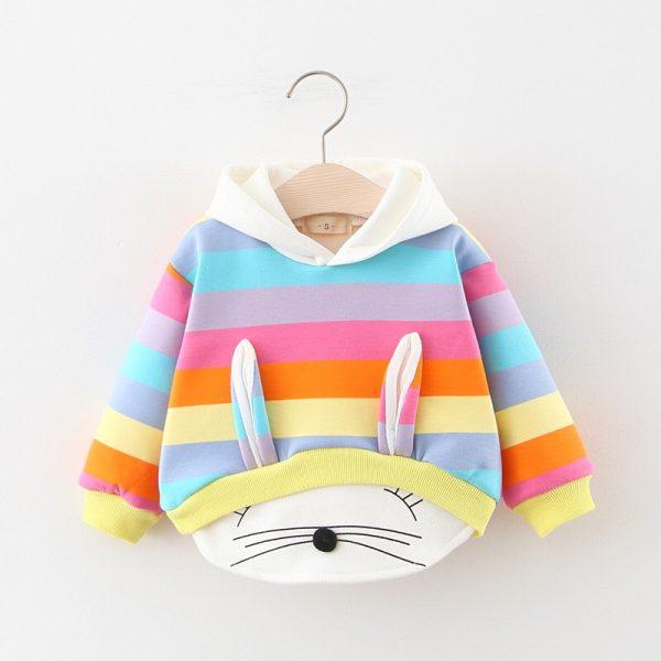 Vêtements d'automne et d'hiver pour petites filles   Sweat-shirt épais en velours, dessus chaud, en coton, à capuche, pour enfants, vêtements pour tout-petits