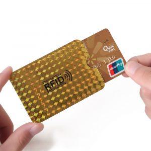 1/4/5/10 pièces en aluminium feuille RFID boîtier anti-degauss porte-carte Protection jeu de cartes bancaires sac de Protection NFC antivol porte-carte