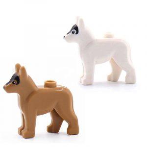 4 pièces Scout chien bloc de construction Force militaire chiffres dédiés WW2 patrouille chien bricolage PUBG ville chien animal de compagnie cadeau éducatif jouet