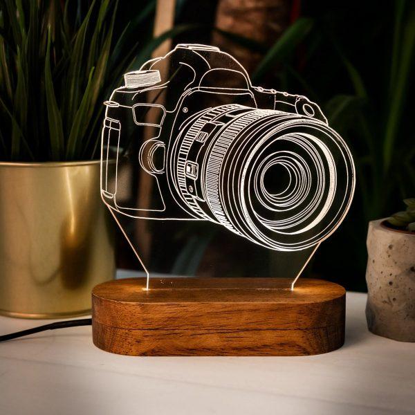 Nouveauté 3D Design caméra LED veilleuse lampe de bureau enfant jouets noël cadeau photographe décor à la maison