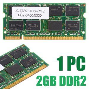 1pc portable mémoire 2GB DDR2 PC2 6400/5300 800/667 MHZ ordinateur portable RAM 200pin non-ecc mémoire pour Dell HP Acer ASUS