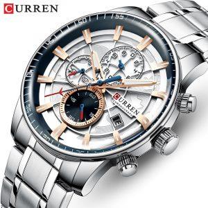 Hommes montres CURREN haut de gamme marque de luxe mode Quartz hommes montre étanche chronographe affaires montre-bracelet Relogio Masculino