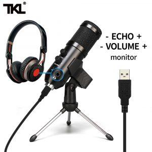 TKL USB Microphone Podcast condensateur Microphone professionnel PC Streaming unidirectionnel micros Kit pour l'enregistrement de jeux YouTube