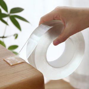 Nano magique Transparent ruban lavable réutilisable Double face ruban adhésif Nano-sans Trace pâte colle amovible ménage nettoyable