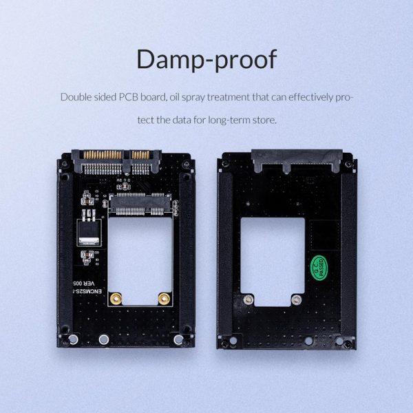 ORICO mSATA à 2.5 pouces SATA 22PIN adaptateur SSD carte pleine taille prise en charge mSATA à SATA3 SSD pour 25X30 mSATA SSD