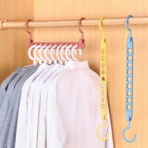 Cintres multifonctions antidérapants   Cintre pivotant pliant, cintres pour vêtements, crochet étagère de rangement, supports de séchage multi-ports, outil de rangement de placard