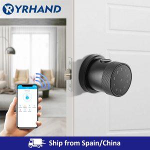 Smart Lock Fingerprint Biometric Door Lock Keyless Touchscreen Keypad Card Electronic Digital Door Lock with TT lock app