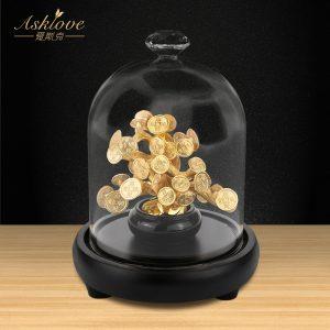 Chanceux argent Fortune arbre feuille d'or artisanat argent arbre Fortune richesse Fengshui décor de table ornement artisanat maison bureau décor