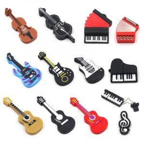 Concert rapide stylo lecteur instrument de musique clavier accordéon guitare violoncelle violon usb clé usb clé usb 4G 8G 16G 32g 64g 128G