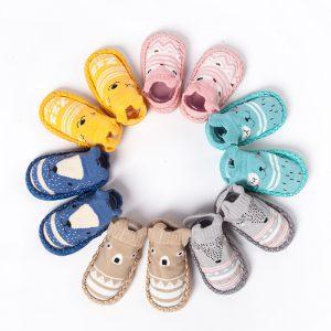 Mode chaussettes Sllipers pour bébé nouveau-né enfant en bas âge bébé filles garçons anti-dérapant chaussettes pantoufle pour 0-4 ans pantoufles enfants bébé chaussures