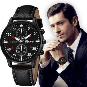 Mode homme Geneva Montre En Cuir En Alliage Militaire Pointeur Montre Quartz Affaires Multi-style Montre Cadeau часы мужские relogio 50 *