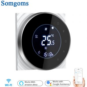 Contrôleur sans fil intelligent de température de Thermostat de contact de WiFi pour l'eau/chauffage électrique par le sol chaudière à eau/gaz fonctionne Google Home