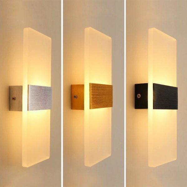 Mur LED lampe extrêmement simple moderne chevet salon couloir chambre à manger balcon escalier applique nordique hôtel lampes