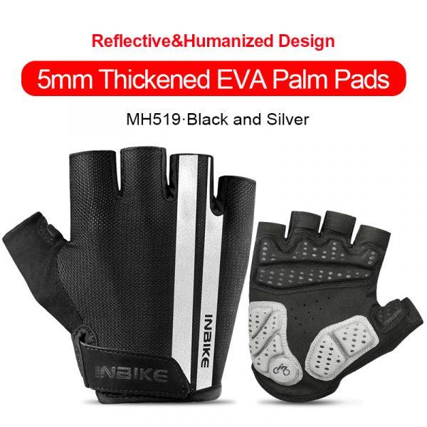 INBIKE Shockproof GEL Pad Cycling Gloves Half Finger Sport Gloves Men Women Summer Bicycle Gym Fitness Gloves MTB Bike Gloves
