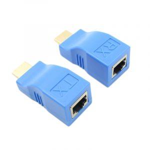 Extendeur Hdmi à Rj45 Lan Network Extension Récepteur Émetteur Tx Rx Cat5E Cat6 Câble Ethernet V1.4 30M 4K Hd Tv 1080P