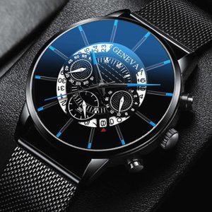 2020 montre pour hommes creux mode Ultra mince montres Date hommes affaires en acier inoxydable maille ceinture Quartz montre Relogio Masculino