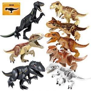 Monde jurassique dinosaures figurines briques tyrannosaure Indominus Rex i-rex assembler des blocs de construction enfant jouet Dinosuar