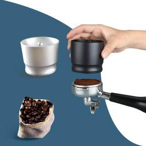 Anneau de dosage Intelligent en aluminium 58MM expresso Barista sélecteur de poudre pour EK43 broyeur bol de brassage tasse café inviolable anneau de dosage