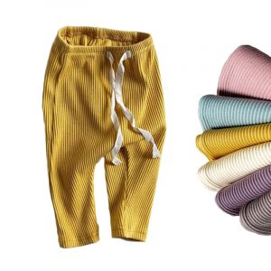 Bébé garçons filles Leggings solides enfant en bas âge côtelé Pp pantalon petit garçon décontracté sarouel pantalons enfants pantalon de fond
