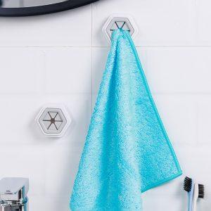 2 pièces porte-serviettes ventouse mur fenêtre salle de bains outil pratique cuisine stockage crochets lavage tissu cintre support nouveau