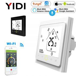 Thermostat intelligent tactile WIFI Electirc   Chauffage au sol, chaudière à gaz, contrôleur de température, application commande vocale Alexa Google